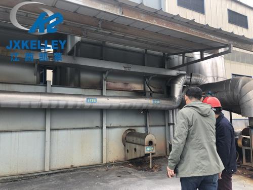 RTO蜂窝陶瓷蓄热体安装现场