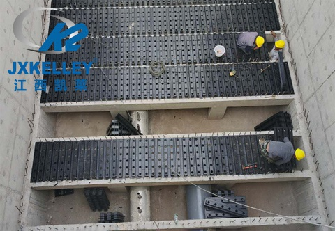 baf曝气生物滤池陶粒滤料安装现场