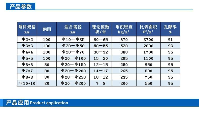 西塔环填料厂家规格参数