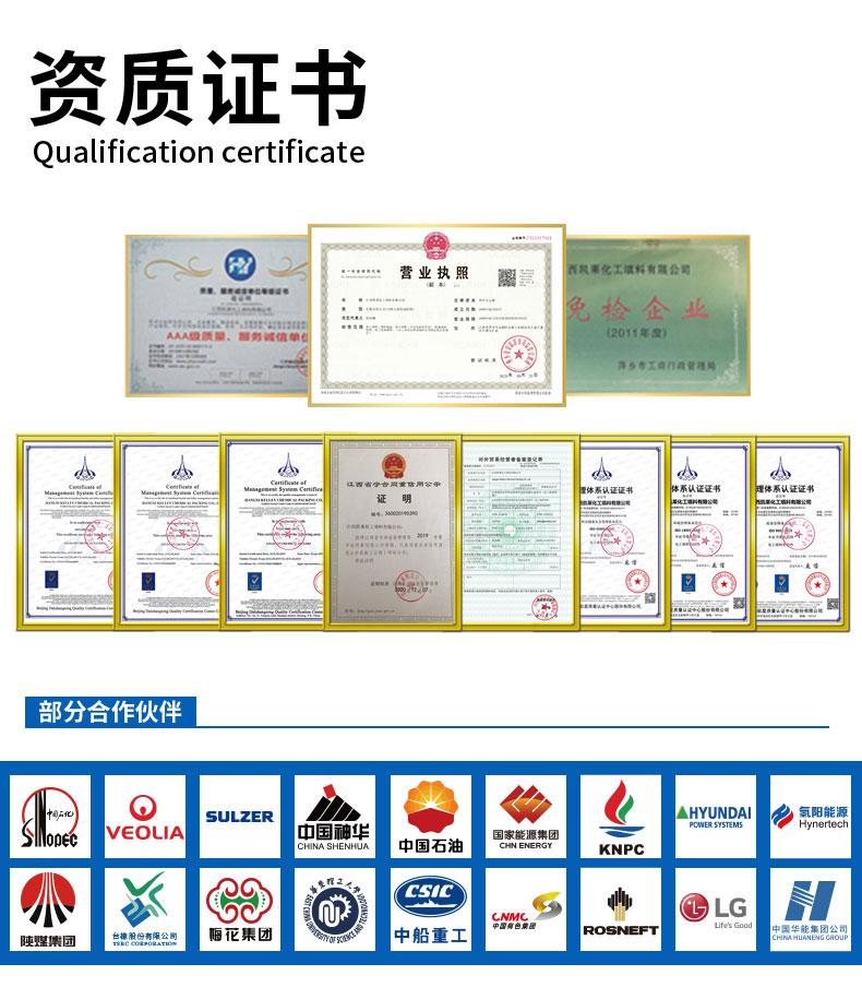 金属丝网波纹填料批发商荣誉证书